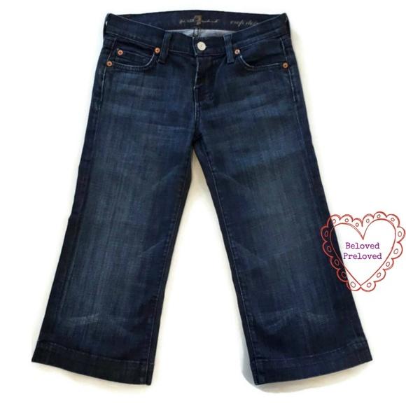 7 For All Mankind Denim - 7 For All Mankind Crop Dojo Capri Blue Jeans 7FAM
